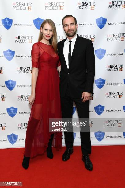 Jelena Salikova and Laurent Baud attend The 3rd Annual Vision 2020 Ball By The Rescue Project Haven Hands Inc Brought To You By AMAZZZING HUMANS at...