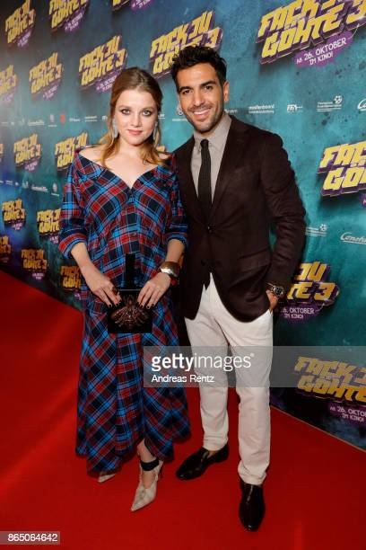 Jella Haase and Elyas M'Barek attend the 'Fack ju Goehte 3' premiere at Mathaeser Filmpalast on October 22, 2017 in Munich, Germany.