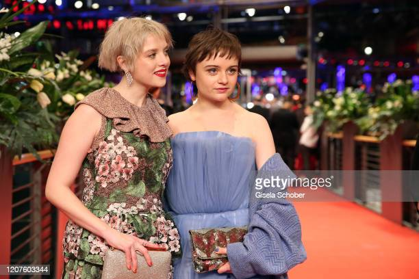 """Jella Haase and Lena Urzendowsky arrive for the opening ceremony and """"My Salinger Year"""" premiere during the 70th Berlinale International Film..."""