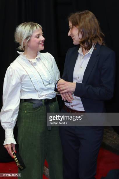 Jella Haase and Marie Leuenberger attend the Bis wir tot sind oder frei during Hamburg film festival on September 26, 2020 in Hamburg, Germany.