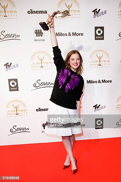 Jella Haase and smart attend the Jupiter Award 2016 on April 06 2016 in Berlin Germany