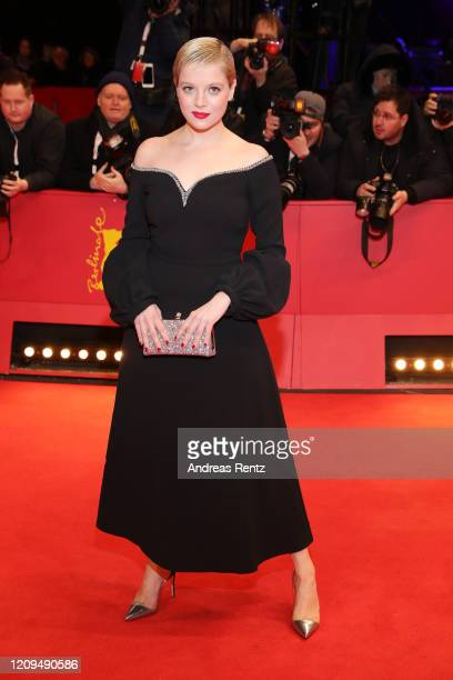Jella Haase arrives for the closing ceremony of the 70th Berlinale International Film Festival Berlin at Berlinale Palace on February 29, 2020 in...