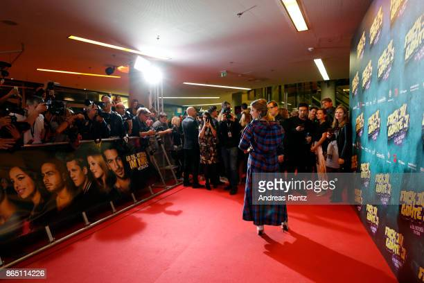 Jella Haase attends the 'Fack ju Goehte 3' premiere at Mathaeser Filmpalast on October 22, 2017 in Munich, Germany.