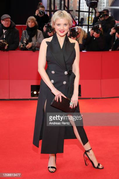 "Jella Haase poses at the ""Berlin Alexanderplatz"" premiere during the 70th Berlinale International Film Festival Berlin at Berlinale Palace on..."