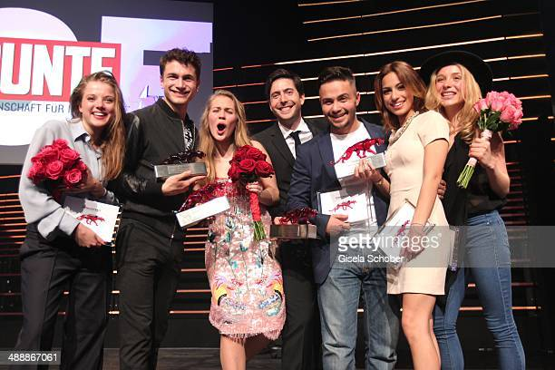 Jella Haase Samuel Schneider Alicia von Rittberg David Dietl Aram Arami Gizem Emre Anna Lena Klenke attend the New Faces Award Film 2014 at eWerk on...