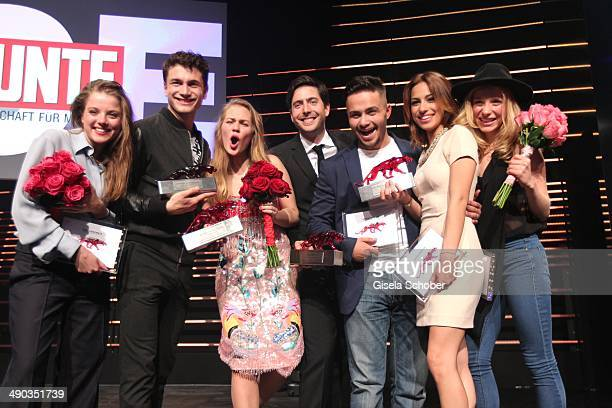 Jella Haase, Samuel Schneider, Alicia von Rittberg, David Dietl, Aram Arami, Gizem Emre and Anna Lena Klenke attend the New Faces Award - Film - 2014...