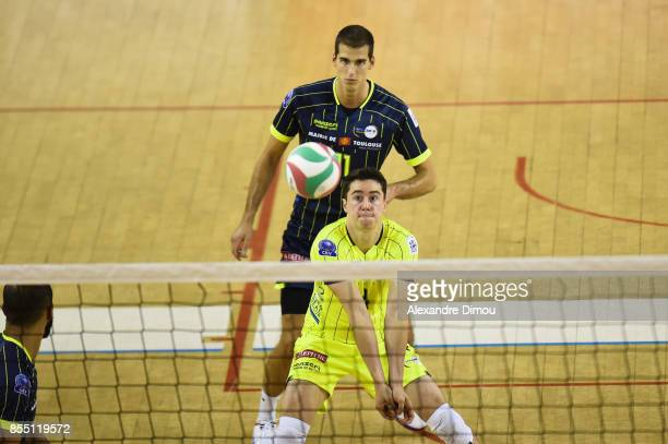 Jelle Ribbens of Toulouse during the Volleyball friendly match on September 22 2017 in Montpellier France