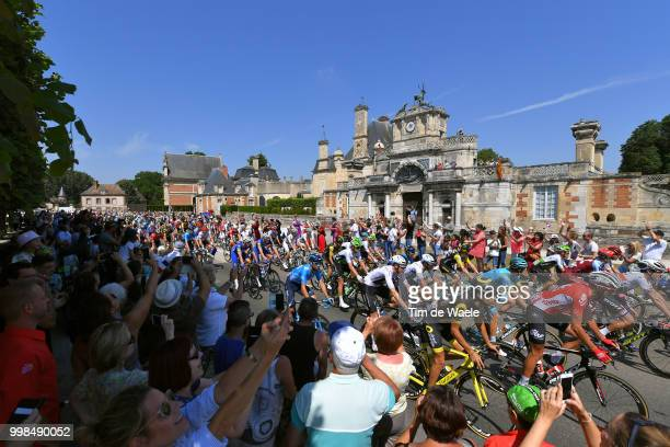Jelle Vanendert of Belgium and Team Lotto Soudal / Alejandro Valverde of Spain and Movistar Team / Anet City / Peloton / Fans / Public / Landscape /...