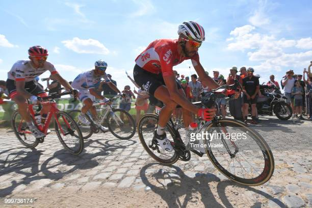 Jelle Vanendert of Belgium and Team Lotto Soudal / during the 105th Tour de France 2018 Stage 9 a 1565 stage from Arras Citadelle to Roubaix on July...