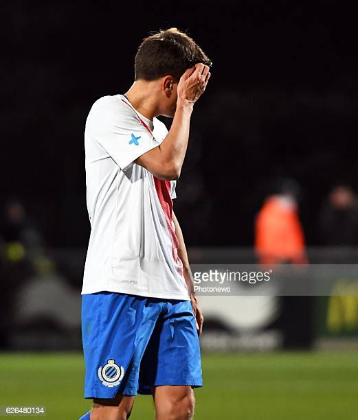 Jelle Vossen forward of Club Brugge disappointed pictured during Croky cup 1/8 F match between KASEupen and Club Brugge KV on November 29 2016 in...