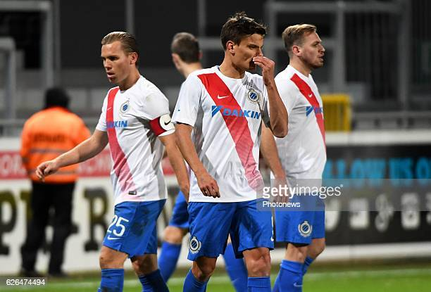 Jelle Vossen forward of Club Brugge looks dejected pictured during Croky cup 1/8 F match between KASEupen and Club Brugge KV on November 29 2016 in...