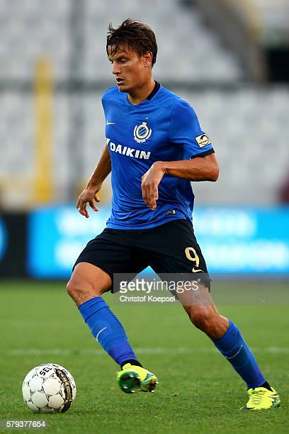 Jelle Vossen of Brugge runs with the ball during the Supercup match between Club Brugge and Standrad Liege at JanBreydelStadium on July 23 2016 in...