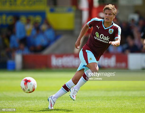 Jelle Vossen of Burnley during a Pre Season Friendly match between Accrington Stanley and Burnley at The Store First Stadium on July 18 2015 in...