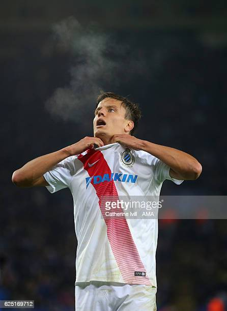 Jelle Vossen of Club Brugge during the UEFA Champions League match between Leicester City FC and Club Brugge KV at The King Power Stadium on November...