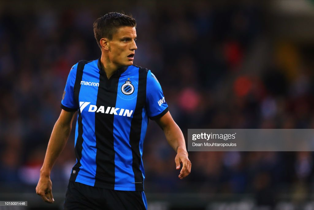 Jelle Vossen of Club Brugge KV looks on during the Jupiler Pro League match between Club Brugge and KV Kortrijk at Jan Breydel Stadium on August 10, 2018 in Brugge, Belgium.