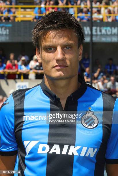 Jelle Vossen pictured during the 2018 2019 season photo shoot of Club Brugge on July 8 2018 in Bruges Belgium