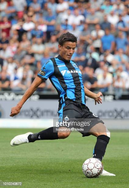 Jelle Vossen pictured in action during the Jupiler Pro League match between Club Brugge and KAS Eupen at Jan Breydel Stadium on July 29 2018 in...
