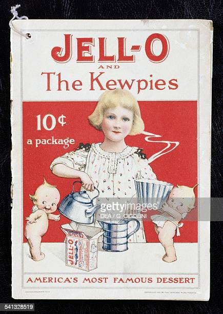 JellO and The Kewpies cover of a cookbook for Jello desserts 1915 United States of America 20th century