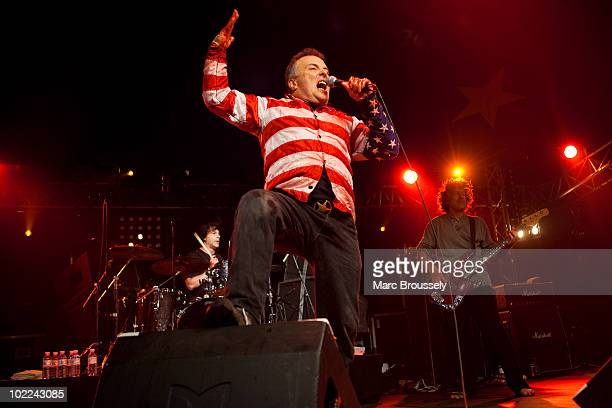 Jello Biafra and The Guantanamo School Of Medicine performing on stage at Hellfest Festival on June 19 2010 in Clisson France