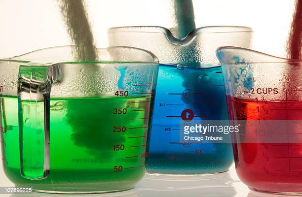 JellO brand gelatin mix containing food dye is added to hot water in the first step to making JellO The flavors are lime berry blue and strawberry