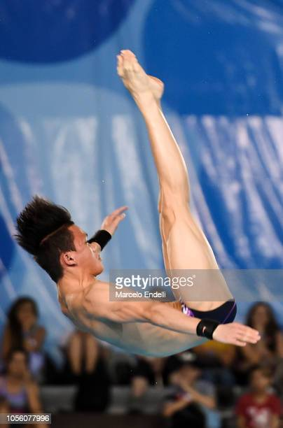Jellson Jabillin of Malaysia competes in the Mixed International Team Final during Day 11 of Buenos Aires Youth Olympic Games 2018 at Europe Pavilion...