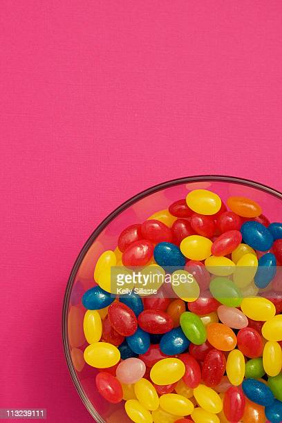 Jelly bean candies in bowl