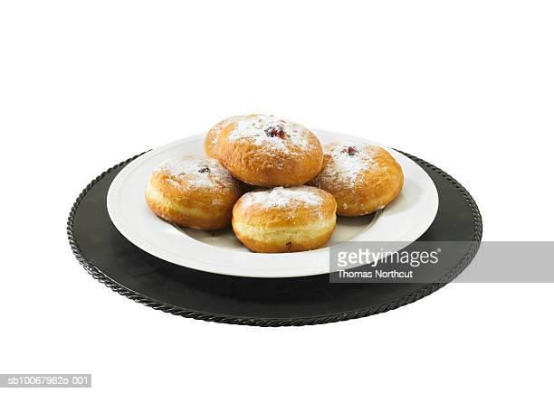 Jelly donuts, studio shot
