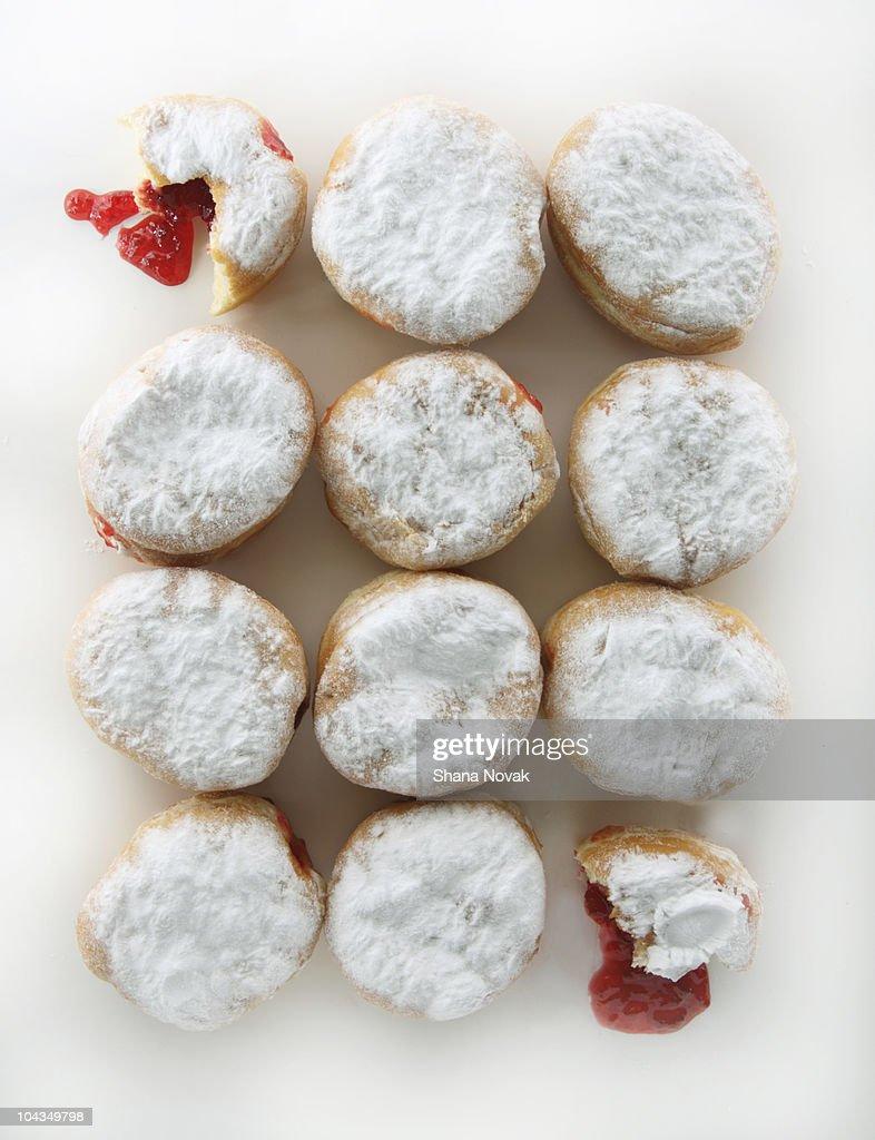 Jelly Doughnuts : Stock Photo