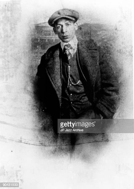 Jelly Roll Morton posed in Storyville in New Orleans c 1903