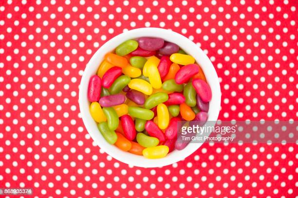 jellybeans - bowl of candy stock photos and pictures