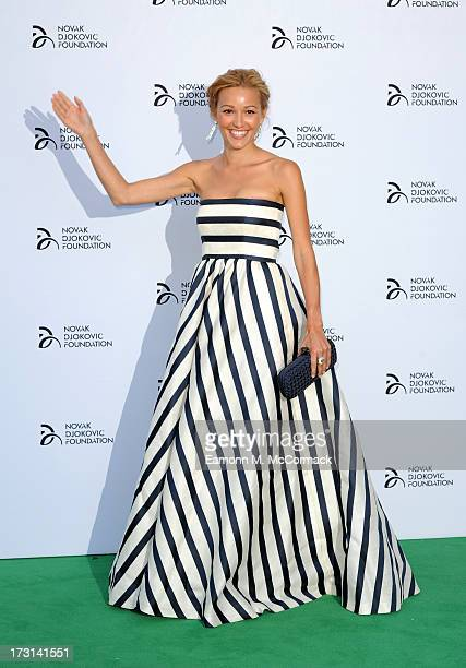 Jelna Ristic attends the Novak Djokovic Foundation London gala dinner at The Roundhouse on July 8 2013 in London England