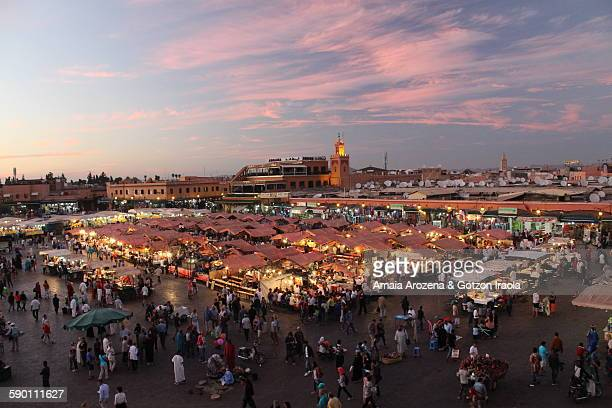 Jemaa el-Fnaa square in Marrakech