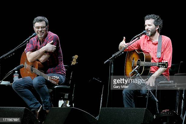 Jemaine Clement and Bret McKenzie of Flight of the Conchords perform during the opening night of the Oddball Comedy Curiosity Festival Tour at...