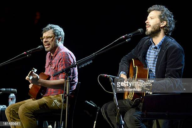 Jemaine Clement and Bret McKenzie of Flight of the Conchords perform as part of the The Oddball Comedy Curiosity Festival at Shoreline Amphitheatre...