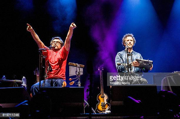 Jemaine Clement and Bret McKenzie perform during Festival Sepreme 2016 at The Shrine Expo Hall on October 29 2016 in Los Angeles California