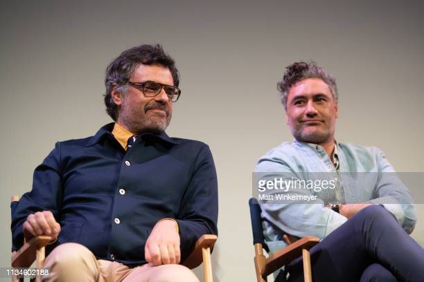 """Jemaine Clement and Taika Waititi attend the """"What We Do in the Shadows"""" Premiere 2019 SXSW Conference and Festivals at the Paramount Theater at..."""