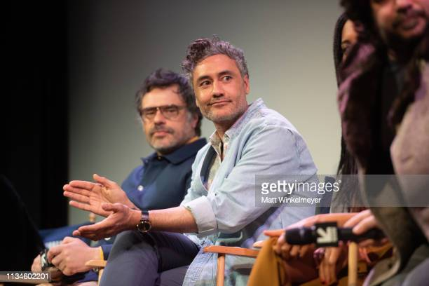 Jemaine Clement and Taika Waititi attend the What We Do in the Shadows Premiere 2019 SXSW Conference and Festivals at the Paramount Theater at...