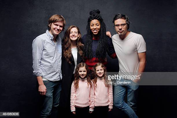 Jemaine Clement Jessica Williams James C Strouse Gia Gadsby Aundrea Gadsby and Stephanie Allynne from the film 'People Places Things' pose for a...