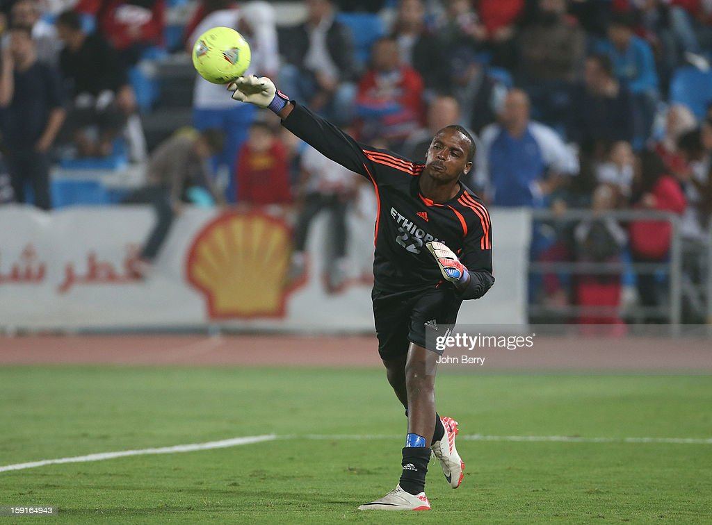 Jemal Tassew of Ethiopia in action during the international friendly game between Tunisia and Ethiopia at the Al Wakrah Stadium on January 7, 2013 in Doha, Qatar.