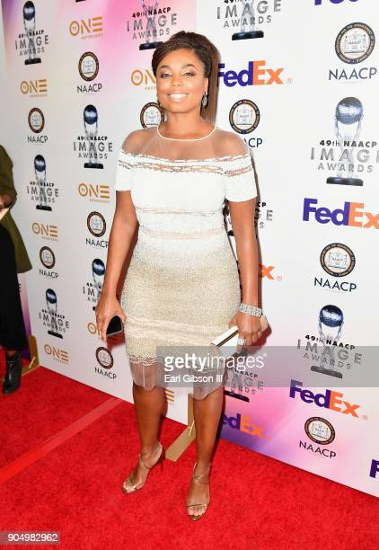 Jemele Hill at the 49th NAACP Image Awards NonTelevised Awards Dinner at the Pasadena Conference Center on January 14 2018 in Pasadena California