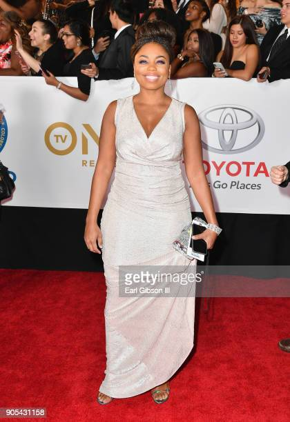 Jemele Hill at the 49th NAACP Image Awards on January 15 2018 in Pasadena California