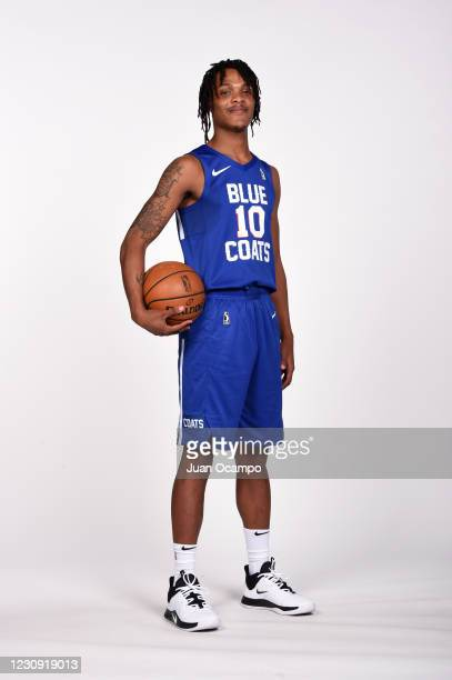 Jemerrio Jones of the Delaware Blue Coats poses for a portrait during NBA G League Content Day on February 1, 2021 at Northwest Pavilion in Orlando,...