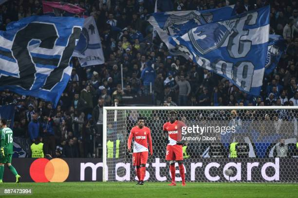 Jemerson and Adama Diakhaby of Monaco looks dejected during the Uefa Champions League match between Fc Porto and As Monaco at Estadio do Dragao on...