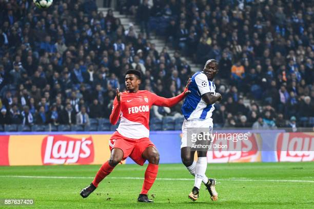 Jemerson of Monaco and Vincent Aboubakar of Porto during the Uefa Champions League match between Fc Porto and As Monaco at Estadio do Dragao on...