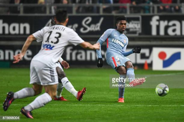 Jemerson of Monaco during the Ligue 1 match between Amiens SC and AS Monaco at Stade de la Licorne on November 17 2017 in Amiens