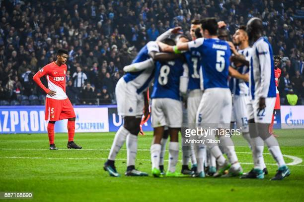 Jemerson of Monaco looks dejected during the Uefa Champions League match between Fc Porto and As Monaco at Estadio do Dragao on December 6 2017 in...