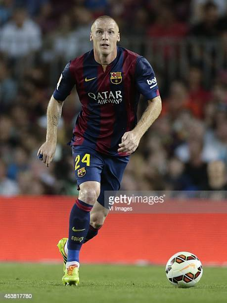 Jemery Mathieu of FC Barcelona during the Joan Gamper Trophy match between FC Barcelona and Leon FC at Camp Nou on august 18 2014 in Barcelona Spain