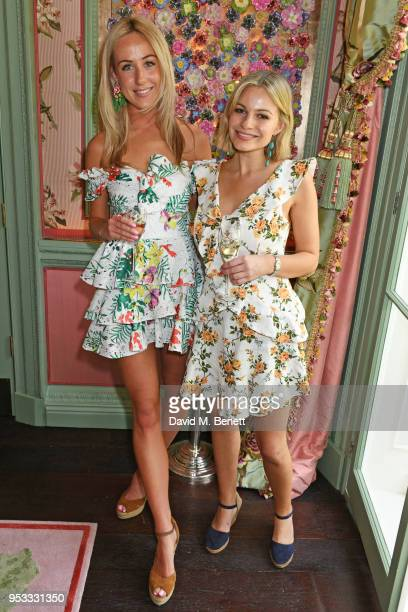 Jemima Cadbury and Chantal Piper attend the launch of BeeBazaarcouk supported by PerrierJouet at Annabel's on May 1 2018 in London England