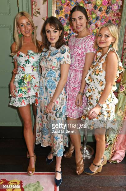 Jemima Cadbury Lady Violet Manners Amber Le Bon and Chantal Piper attend the launch of BeeBazaarcouk supported by PerrierJouet at Annabel's on May 1...