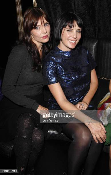 Jemima French and Sadie Frost attend the Agent Provocateur fragrance launch party at the Dolce Club on September 25 2008 in London England